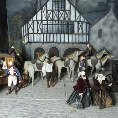maquette de l'arrestation, visible au musée