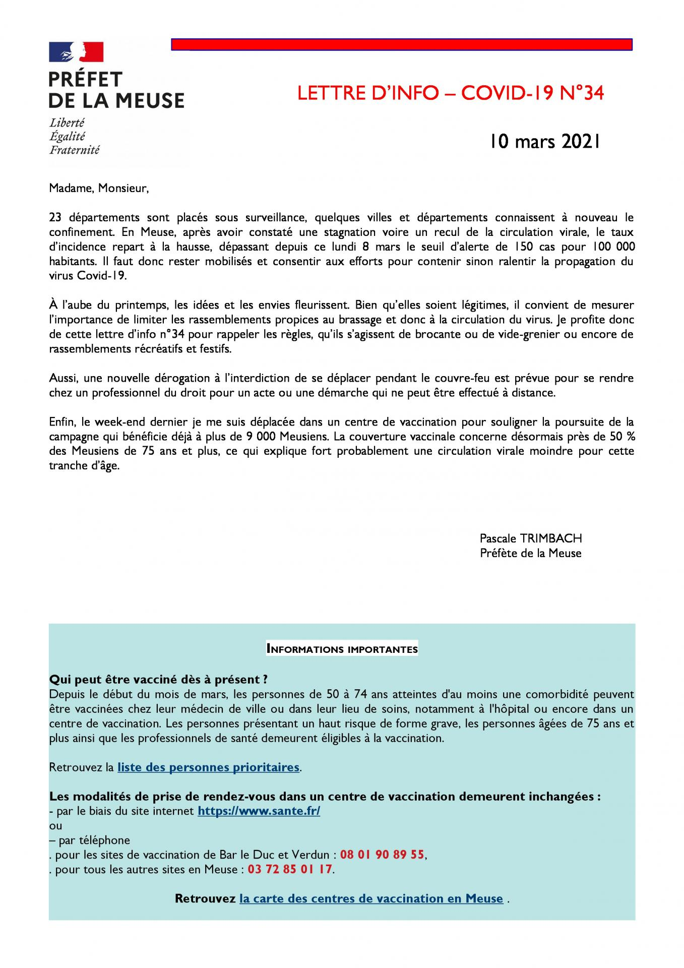 Lettre info covid n 34 page 1